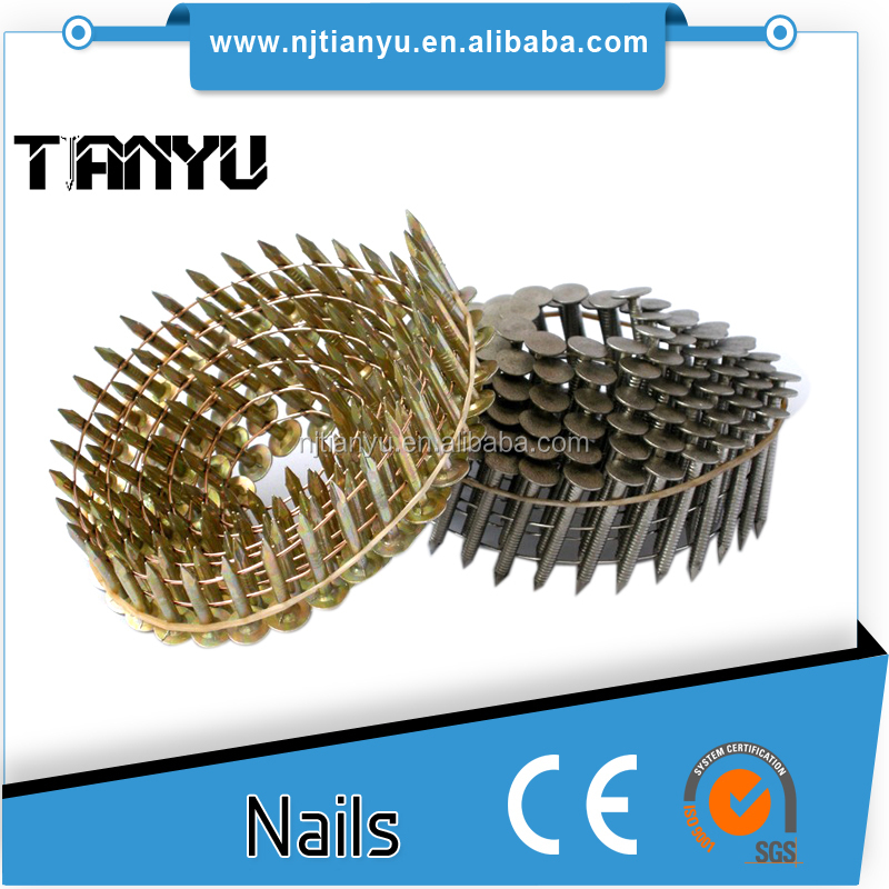 zinc Roofing collated Coil Nails, coil common nail used for senco