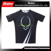 Sublimated sports compression wear,custom compression shirt