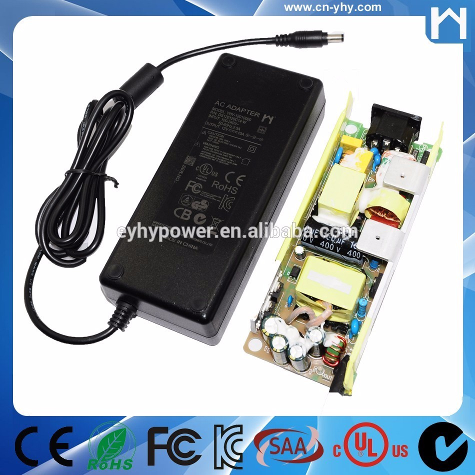 Multifunctional 24V 5A power adapter dc adapter with UL CE KC approve
