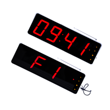 Wall mounted hall queue wireless led number display
