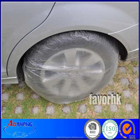 Disposable Plastic PE Car Wheel And Tire Covers