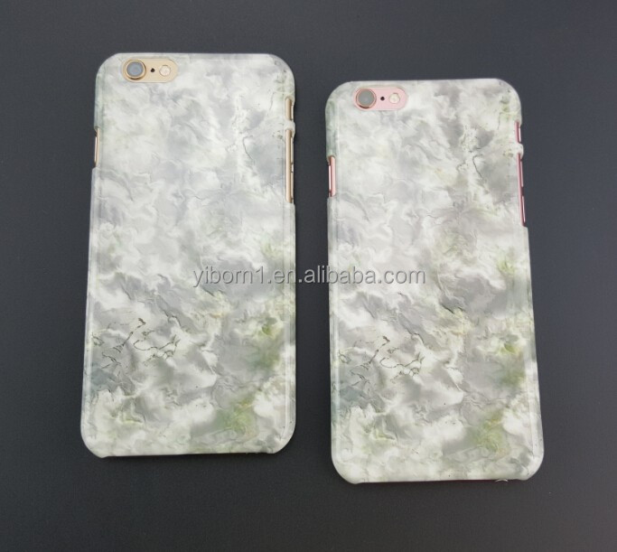 Factory Water Transfer UV custom printed marble phone case for iphone 6 6S