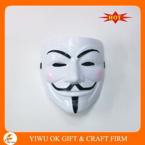 Plastic cosplay V for vendetta mask for sale
