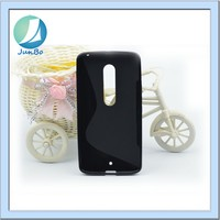 New Arrival Model Solid Black S Line TPU Case for Moto X3