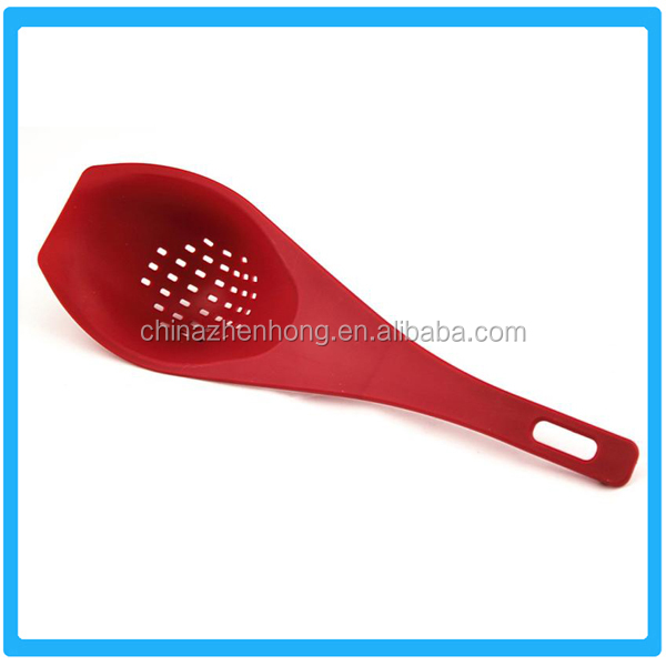 Ningbo Most Promotional Nylon Strainer Spoon,Plastic Colander Spoon