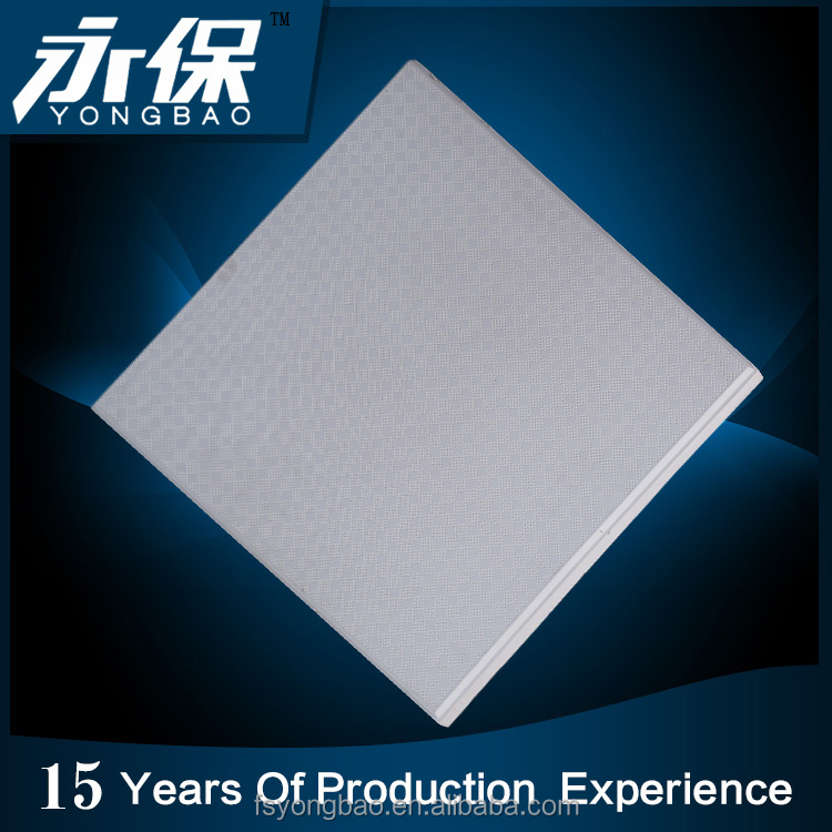 construction white standard size fireproof 60x60 gypsum ceiling tiles