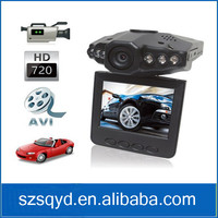 Brand New 2.5'' LCD HD Car DVR With Motion Detection 6 leds Night View 120 Degree Angel SD Card Car Camera Recorder detector
