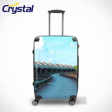 Factory Hard-Shell Women Travel Trolley ABS+PC OEM Personalized Luggage Sets/Colorful Zipper Luggage, Lady Trolley Luggage