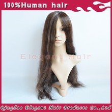 New lace cap full swiss lace with pu injection in front highlight color straight 180% density full lace wig