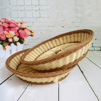customized size plstic rattan basket indonesia
