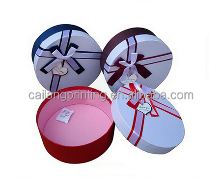 Candle packaging box with lids made by rigid paper tube heart boxes with matched ribbon and inlay chocolate packaging box