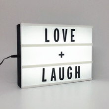 The Leading Lights Cinematic Letter A4 Light Box Vintage Style <strong>Sign</strong>
