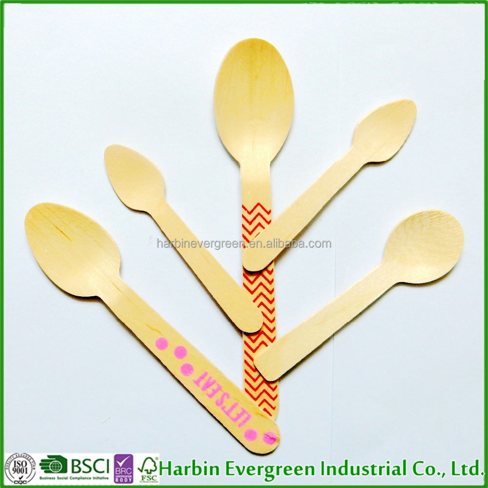 Factory Store Bulk Cheap Disposable Wooden Biodegradable spatula Spoon