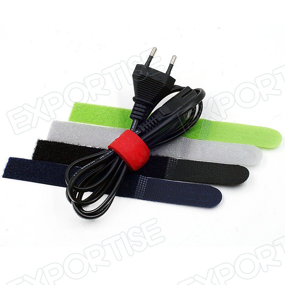 Hook&Loop cable tie strap Wire Organiser Laptop PC TV Cable Ties 18X2cm