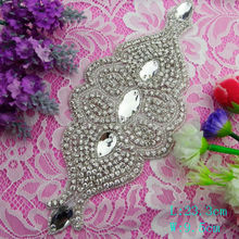 wholesale newest crystal beading belts and rhinestone applique headband for wedding dress from Bailange