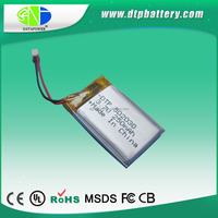 UL certificated rechargeable lipo 3.7v 250mah batteries