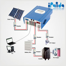 mppt 30A Solar charge controller 12v 24v 48vauto work with LCD DC loads Ctrl batt