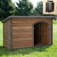 outdoor wooden handmade dog house