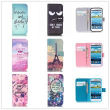Stand Style Magnet Flip Wallet Cover Leather Cartoon Paiting Pattern Soft Case For Samsung Galay S3 S4 S5 mini Neo S6 S7 edge