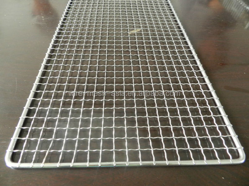 Square Shape Stainless Steel Barbecue Grill Netting.
