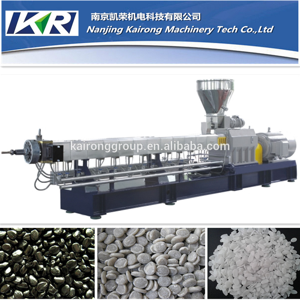 twin/double/two screw PP PE plastic filler/filling masterbatch plastic pellete/granule pelletizer/granulator/machine