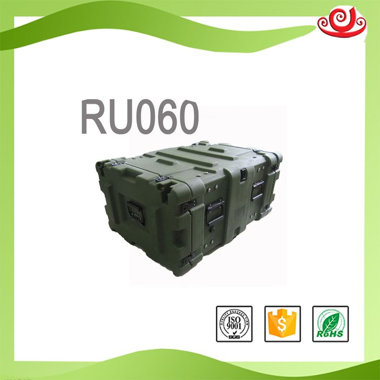Tricases different styles low price IP67 plastic LLDPE rack cases rotomolding portable military case RU060