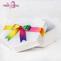 Custom rainbow packing gift box ribbon with elastic loop