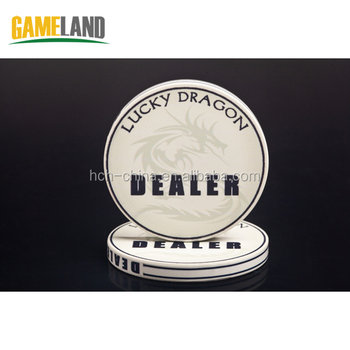 Custom Graphic 49x5mm Ceramic Dealer Button Casino Grade