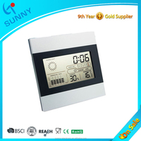 Sunny Factory Supply Cheap Digital Electronic Desk Calendar Clock With Weather Station