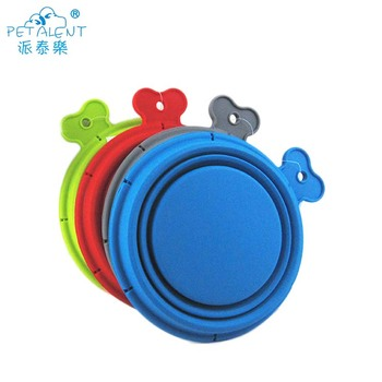 Wholesale Stocked New Collapsible Travel Dog Bowl Foldable Silicone Pet Feeding Bowl
