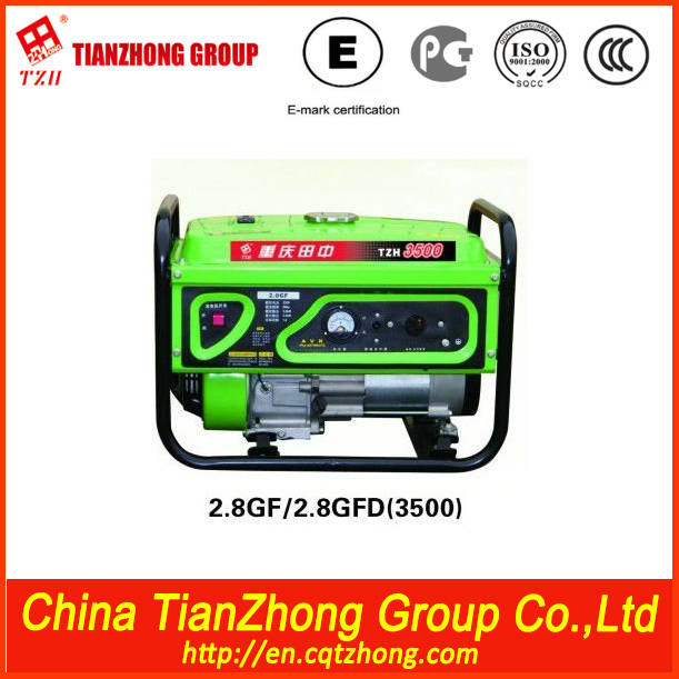 TZH hand start gasoline generator 5500 4kw 188 gx340 electric starting 11.0hp handle