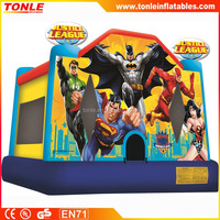 justice league Inflatable jump castle for sale, commercial bounce house for rental