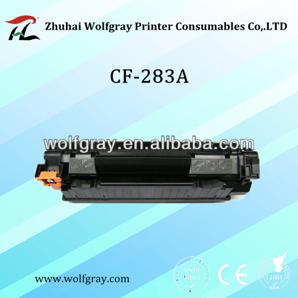 Toner catridge/ For HP 283A/High quality/ Color box /Air bag/ Factory supply