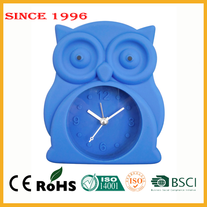 Unbreakable silicone home decor dropshipping table alarm clock
