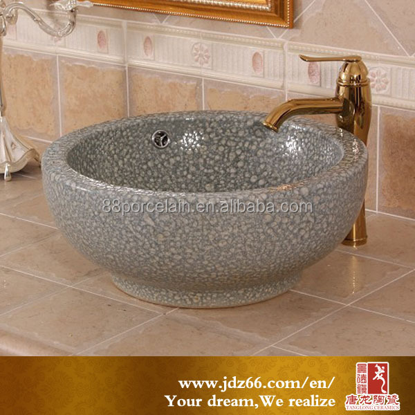 New natural stone feeling grey ceramic wash basin lavatory overflow hole cover for modern house design