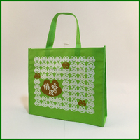 Pictures printing non woven shopping bag for matching shoes and clothing
