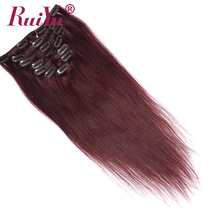 Fashional top grade 8A plastic clip for hair extensions, clip in hair extension wholesale