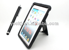 china wholesale price 2 in 1 Combo Rubber Hybrid Built-inkickstand case for ipad mini with stylus pen free sample available