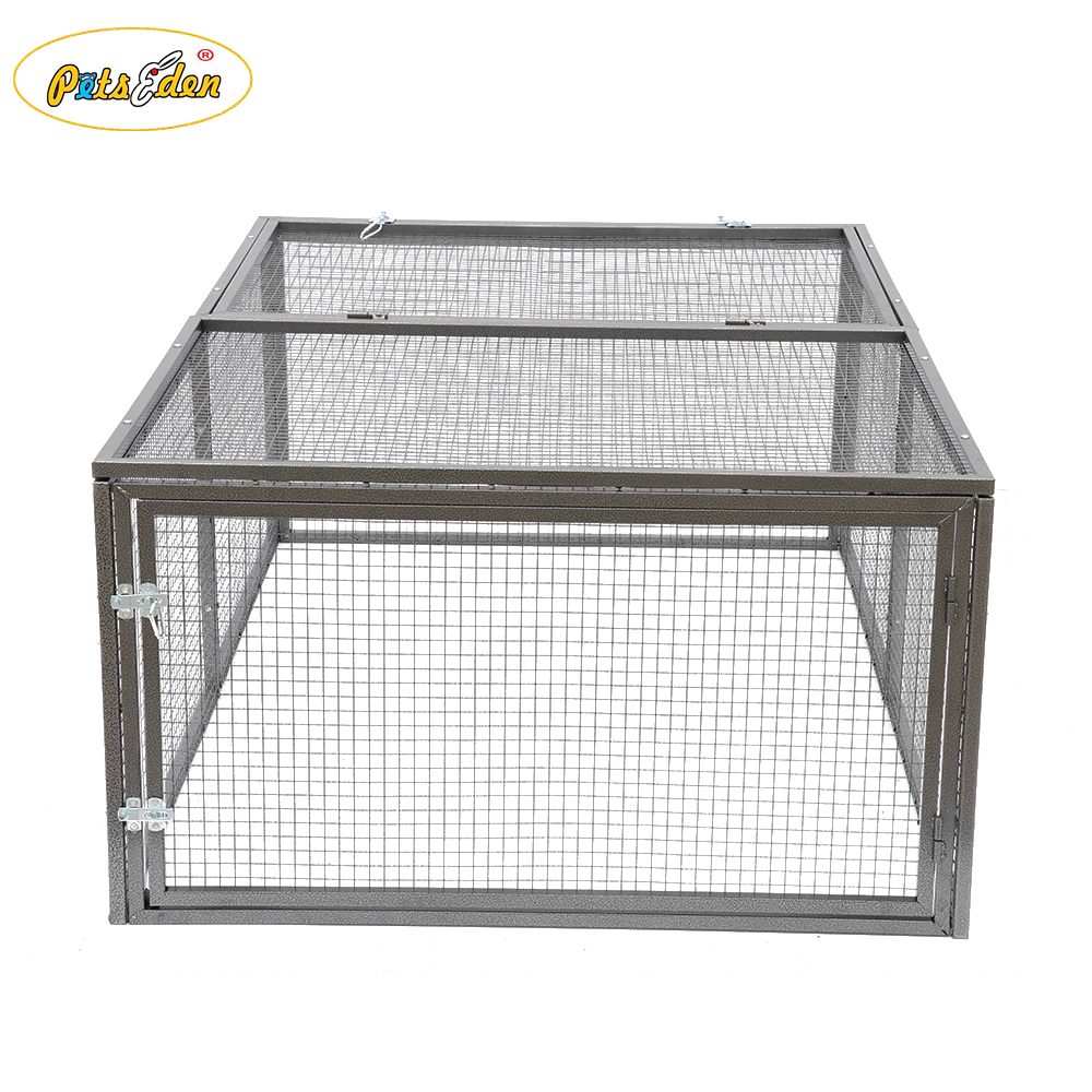Heavy duty square tube Frame Mesh folding dog cages pet cat rabbit kennel puppy crate