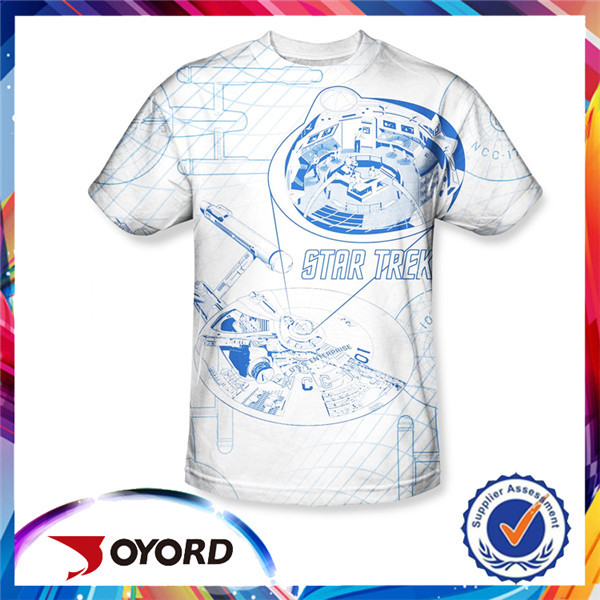 Oem fazer seu próprio projeto atacado 3d digital impresso tshirt feito sob encomenda t camisa