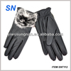 YiWu SN new style noble fashion ladies leather gloves for winter
