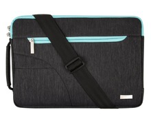Polyester Fabric Sleeve Case Cover Laptop Shoulder Briefcase Bag for 15-15.6 Inch MacBook