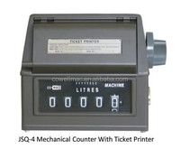 Positive Displacement Meter - Large Numeral Counter with Ticket Printer