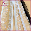 Decorative hair accessories metallic ruffle chiffon elastic lace trim