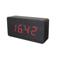 ZOGIFT Home Digital Desk Table Clocks Large Jumbo LED Display Wooden Alarm Clock
