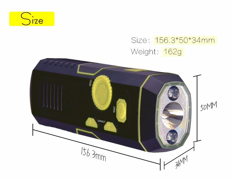 Lanterna de manivela de emergência AM FM portátil rádio