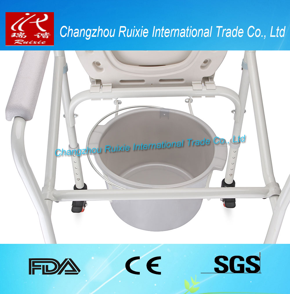 2017 best selling rolling shower commode chair with stable function