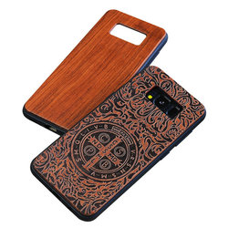 Cherry wooden blank tpu wood phone case for s9,mobile phone accessories
