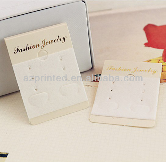 2014 cheap best sale custom made with logo earring cards wholesale&gold foil jewelry card