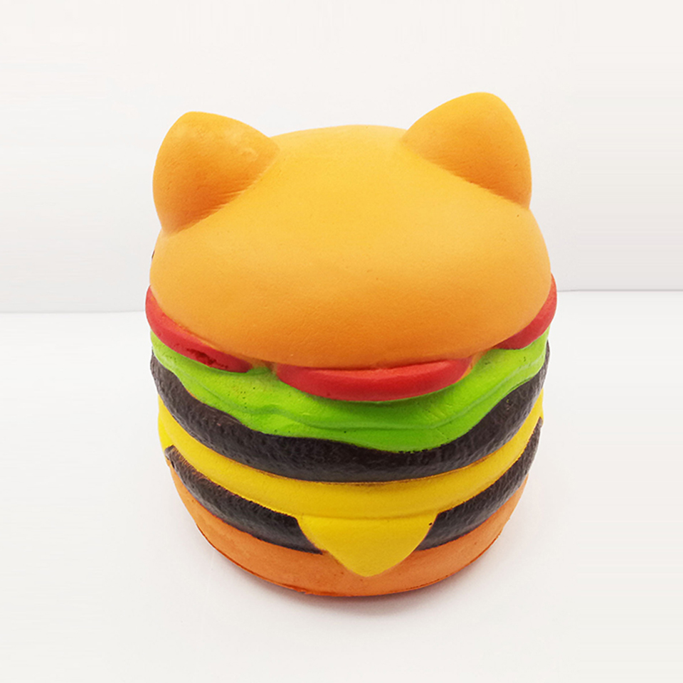 Jumbo Cat Hamburgers Squishy Cream Scented Slow Rising large Kawaii Squishy Charms Toys